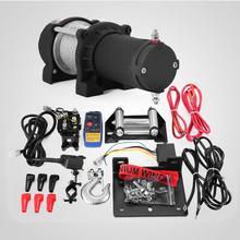 ไฟฟ้า Winch รอก 12V Winch 1360kg / 3000lbs Winch ไฟฟ้าที่มีรีโมทคอนโทรล (1360 กก.) ฟรีจัดส่ง