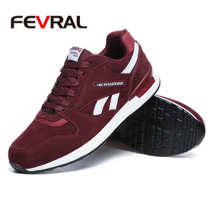 Image 3 - FEVRAL Mens Leather Sneakers Unisex Autumn Casual Trainers Breathable Outdoor Walking Shoes Light Men Winter Warm Sport Shoes