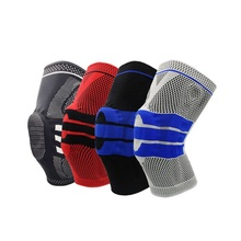 Elastic Basketball Knee Pads Support Silicon Padded Patella Brace Kneepad Protective Gear For Volleyball Sports Safety недорого