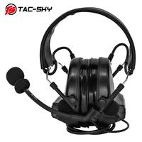 outdoor sports TAC-SKY COMTAC II silicone earmuffs version outdoor hunting sports military noise reduction pickup tactical headset BK (4)