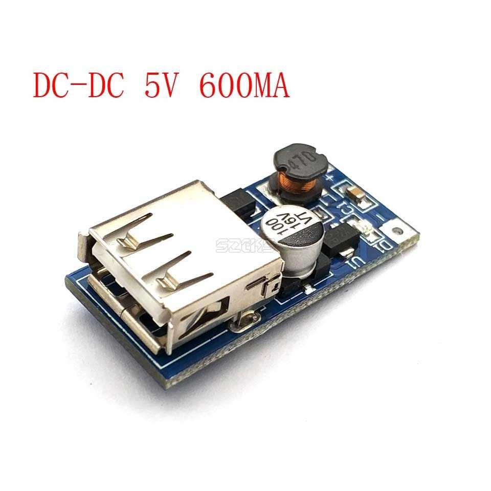 DC DC 0.9 V-5 V إلى 5V 600MA البنك شاحن تصعيد دفعة تحويل امدادات الطاقة الجهد وحدة USB الناتج شحن لوحة دوائر كهربائية
