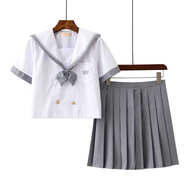 Japanese Sailor Uniform Women Girl JK Student Long Sleeve School Cosplay Costume