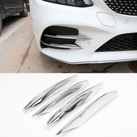 For Mercedes Benz C Class W205 C180L C260 C300 2019 Car styling ABS Chrome Air intake grille Strips Trim Car Accessories 4Pcs|Chromium Styling|   -