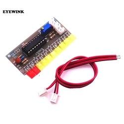 1 pçs lm3915 10 segmento de nível de áudio indicador led módulo kit peças diversão diy kit conjunto produção eletrônica trousse dc 9v-12v