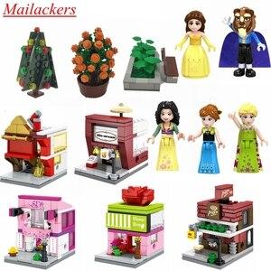 Mailackers princesse en forme de coeur princesse jouet barre fille balançoire fille piscine fille modèle blocs compatibles amis Mailackers enfants jouets(China)