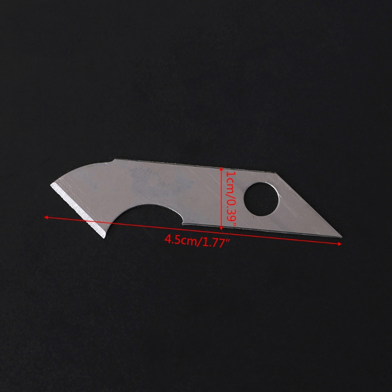 10x Sharp Hook Knife Blade For Crafts Cutter Cutting  Acrylic Plate Board Sheets LX9A