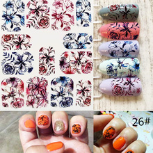 Цвет ногтей 6D маникюрный Декор DIY стикер s Блеск для ногтей Наклейки для декора WSH99