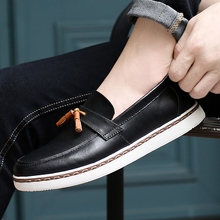 New Trend Casual Shoes Mens Anti Slip Leather Shoes