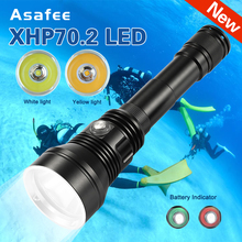 new 6000 LM XHP70.2 Underwater Diving Flashlight Professional Diving Torch Water