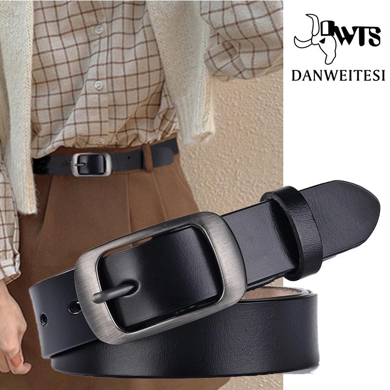 DWTS  Women Belt Fashion Female Belt Women Genuine Leather Belts For Women Female Belts Pin Buckle belts Fancy Vintage for Jeans