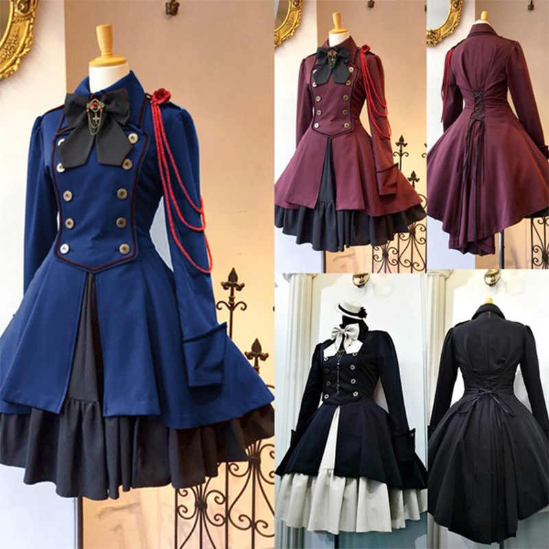 Anime Black Butler Cosplay Dress Long Sleeve Ciel Phantomhive Costume Dress Costume Halloween Stage Costume Party Gift Drop Ship