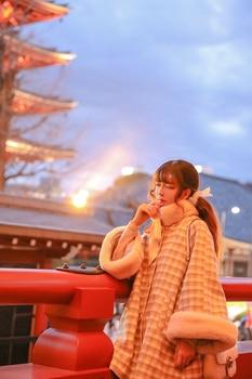 Princesa dulce lolita abrigo Misscherry diseño original japonés ligero café tweed con lana y manga flare abrigo mujer MC003