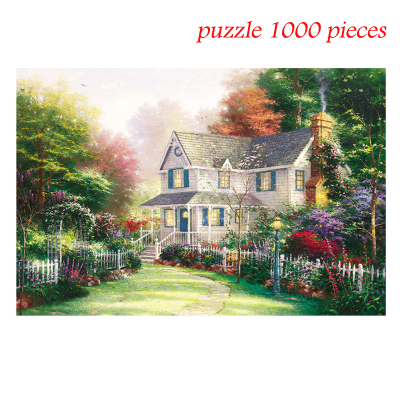 2020 Jagsaw Puzzle -Forest Hut -1000 Piece 27.56 By 19.69for Adults Puzzle Toys Kids Children Educational Toys Drop Shipping