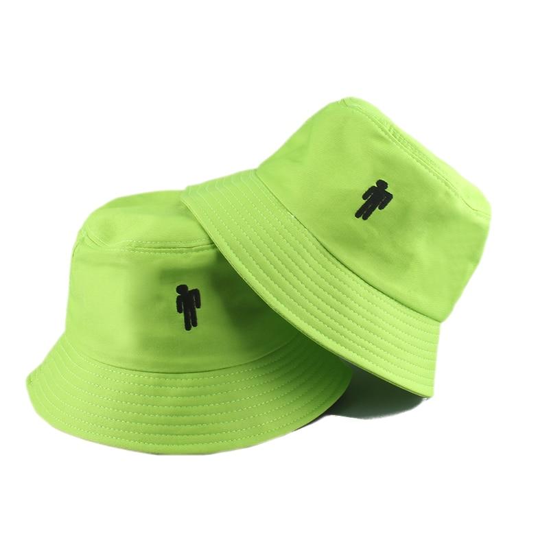 2020 New Green White Black Billie Eilish Cap Casual Bucket Hat Fans Hip Hop Caps Korean Fashion Women Man Panama Fisherman Hat