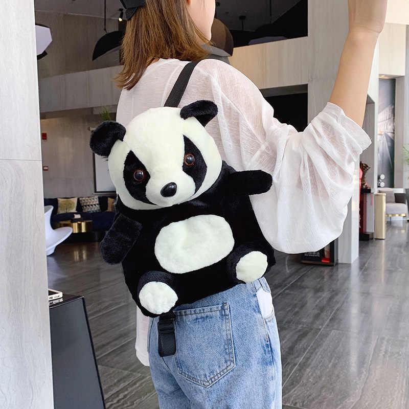 Cartoon Panda Pop Dieren Pluche Rugzakken voor Volwassen Kid Kleuterschool Jongen Meisje Stuff Rugzak Panda Purse Coin Boek Schoudertas
