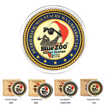 Blue ZOO Natural Beard Oil Balm Moustache Styling Beeswax Moisturizing Smoothing Gentlemen Organic Men Grooming Kit BlueZOO
