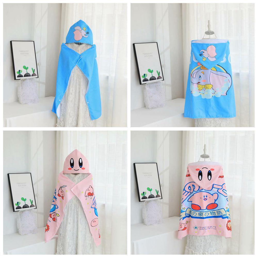 Cartoon Household Bath Towel Women's Wearable Superfine Fibre Couples Wrapped Cover CHILDREN'S Cloak Cloak Nap Single Person Bla