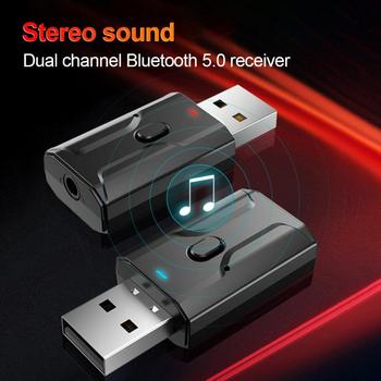 2 In 1 Wireless Stereo USB Bluetooth 3.5mm Jack Receiver Transmitter For TV Headphones Car Computer Mouse Home Stereo System image