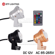 DC12V/AC85-256V LED Underwater RGB/White/Warm/Red/Blue/Green Floodlight lawn Swimming Pool Spot Light IP68 Waterproof(China)