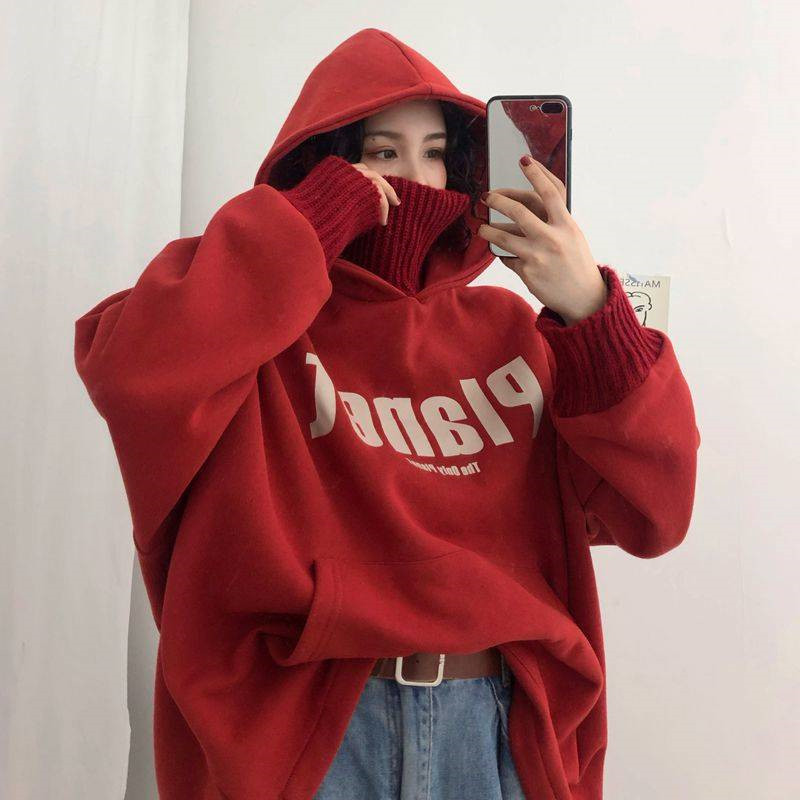 Women Hoodies Spring Harajuku Printed Loose Long Sleeve Hoodies Sweatshirts Fashion Women Girls Sweatshirt Oversized Vintage Sty