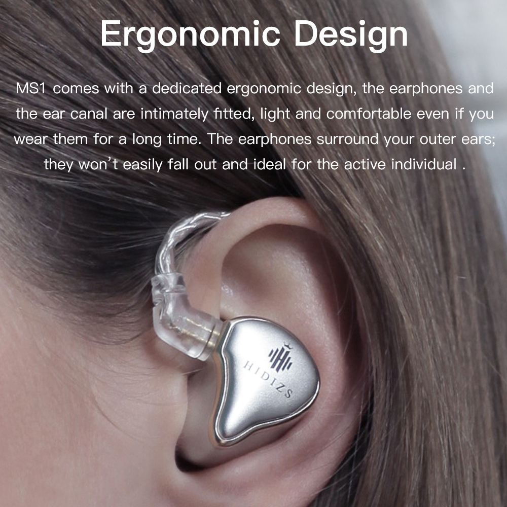 Earphones Hidizs MS1 HiFi Audio Dynamic Diaphragm In-Ear Monitor earphone IEM with Detachable <font><b>Cable</b></font> <font><b>2Pin</b></font> <font><b>0.78</b></font> mm Connector image