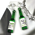 Simulation Wine Bottle Clip On Earrings No Hole Ear Clips Cool Mini Beer Bottle Earrings Without Piercing Creative Earring CE419