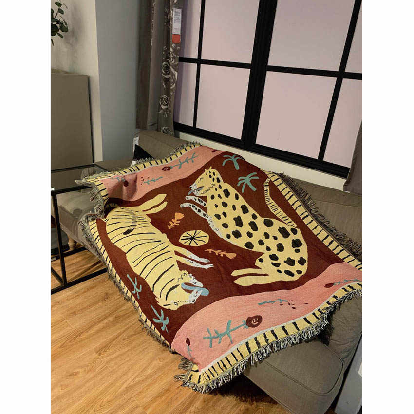 Soft Pink Panther Blanket Bedding Sheet Sofa Cover 125x150cm Thick Tapestry  Large Throw Blanket Home Travel Airplane For Adults
