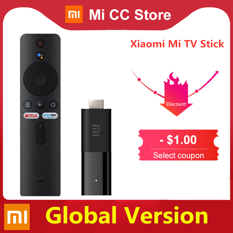 In Stock Global Version Xiaomi TV Stick 2K HDR Android TV 9.0 Wifi Google Assistant TV Dongle 1GB 8GB Bluetooth 4.2 Mi TV Stick|Smart Remote Control| - AliExpress