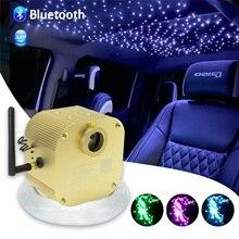 16W Twinkle Fiber Optic Star ceiling lights kit Bluetooth APP Smart Control for Starry Car Star LED Light Kid Room Ceiling