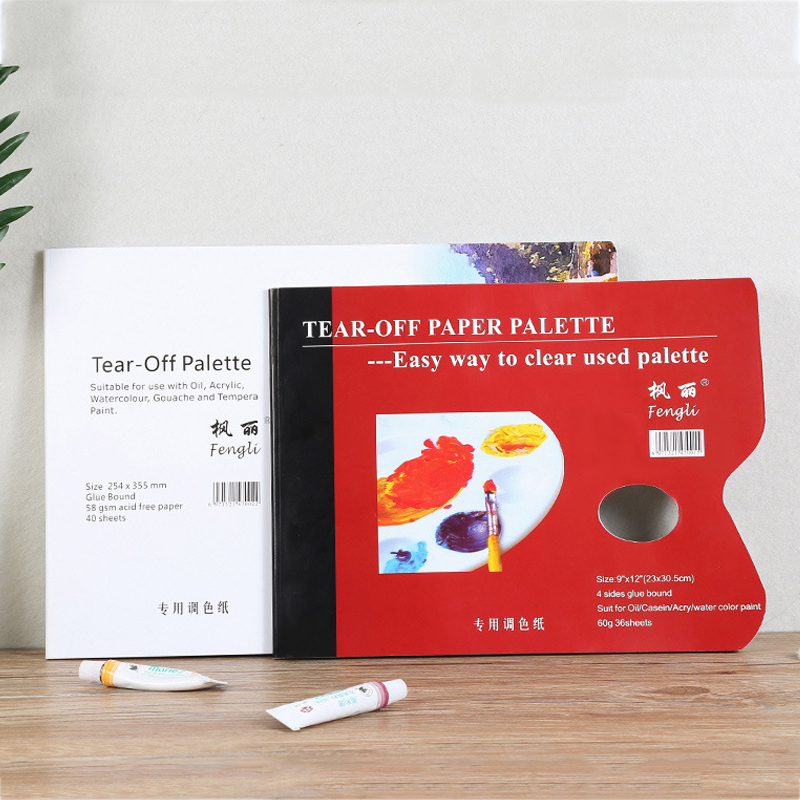 A4/8K Disposable Tear Off Paper Palette Watercolor Paint Palette Paper Pad For Artist Acrylic Oil Painting Gouache Art Supplies