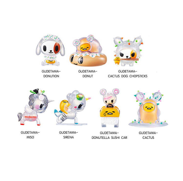 Tokidoki X Gudetama Joint Blind Box Surprise Unicorn Tide Action Figure Gift Toy