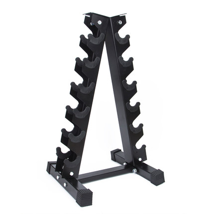 Dumbbell Rack Can Be Placed At Home Men's Hexagonal Plastic Plating Fixed Dumbbell Gym Equipment Tripod Dumbbell Cart