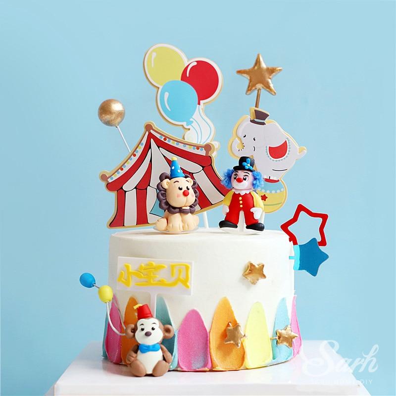 Outstanding Circus Clay Monkey Clown Elephant Decoration Hollow Star Ball Funny Birthday Cards Online Inifodamsfinfo
