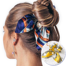 Новинка, шифоновые эластичные резинки для волос с бантом для женщин и девочек, резинки для волос с жемчугом, резинки для волос, резинки для волос с конским хвостом, аксессуары для волос