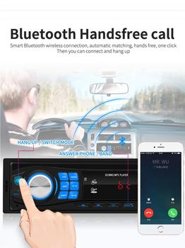 New Car Radio Stereo Player Bluetooth Phone 12V Car Audio AUX-IN MP3 FM/USB/1 Din/SWC Remote/remote control USB2.0 AUX Radio image
