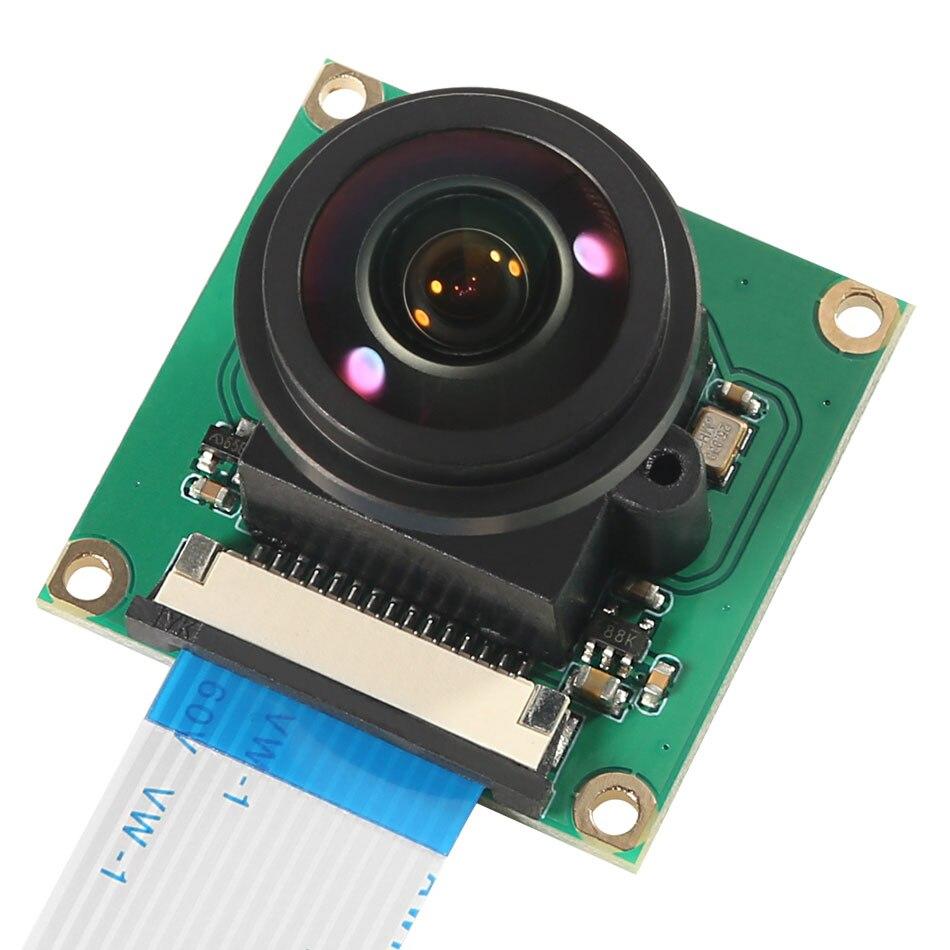Raspberry pi câmera módulo ov5647 5mp 175 graus grande angular fisheye lente raspberry pi 4/ 3 modelo b câmera módulo