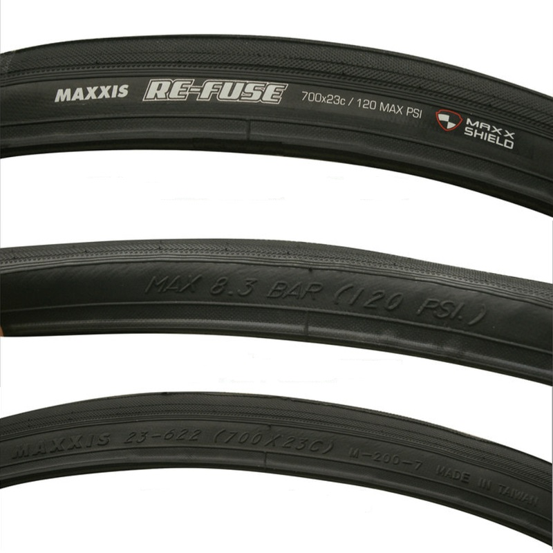 1 or 2 Tires Maxxis Re-Fuse 700x25C//28C Road Racing Bike Clincher Tyre Black