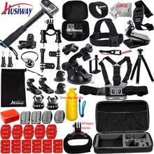 Husiway acessórios kit para gopro hero 8 7 6 5 herói preto 4 3 sessão dji osmo conjunto de ação montagem para soocoo/akaso/xiaomi13n