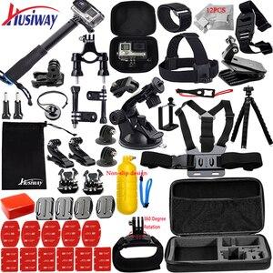 Image 1 - Husiway kit de accesorios para Gopro Hero 8, 7, 6, 5, Black Hero 4, 3 Session, DJI Osmo Action Set, montaje para SOOCOO / Akaso / xiaomi13N