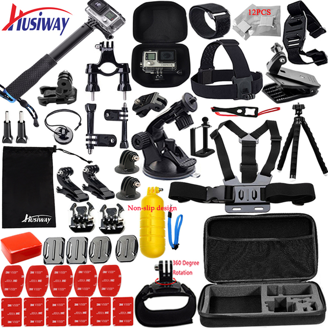 Husiway kit de accesorios para Gopro Hero 8, 7, 6, 5, Black Hero 4, 3 Session, DJI Osmo Action Set, montaje para SOOCOO / Akaso / xiaomi13N
