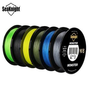 Image 3 - Seaknight marca ms w8 série 8 fios 500m ultra fundição trança linha de pesca suave super linha multifilamento pe linha 15 100lbs