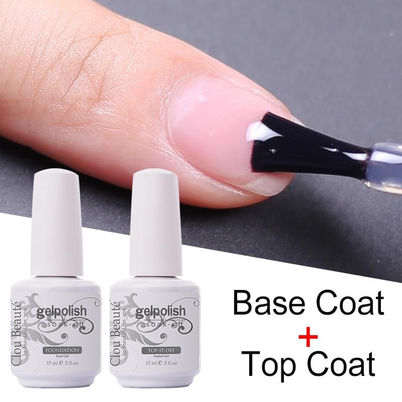 Sem limpeza superior casaco base primer uv gel unha arte dicas manicure gel unha polonês cor gel esmalte polonês semi permanente