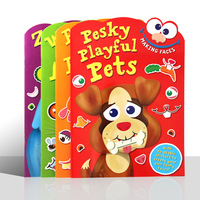 Children Baby English Original Educational Early Childhood Make Faces DIY Fun Sticker Book 4 Support Point Reading Picture Book