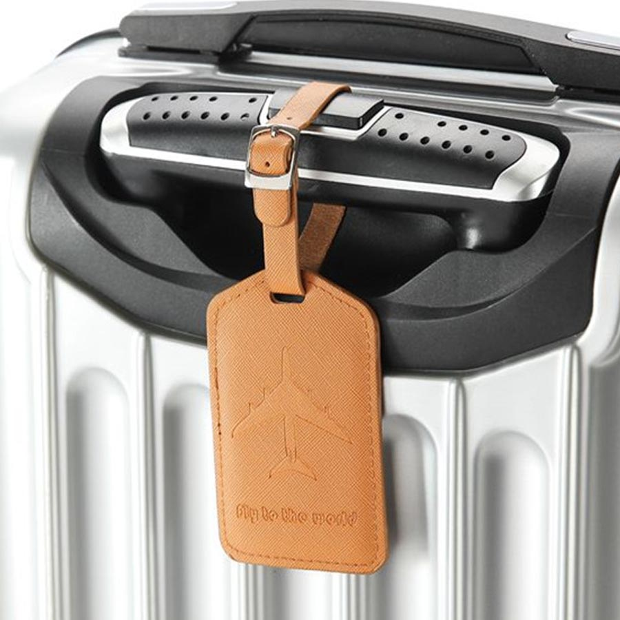 Personalized Aircraft Leather Suitcase Luggage Tag Label Bag Pendant Handbag Travel Accessories Name ID Address Tags LT13A