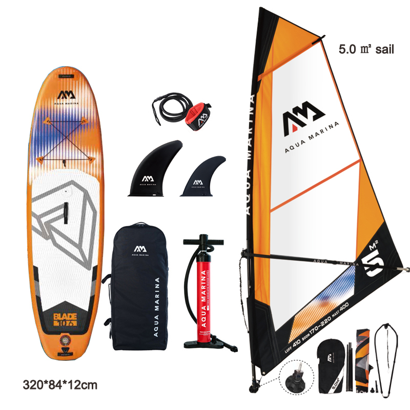 Windsurf 320*84*12CM Board AQUA MARINA BLADE Inflatable Sup Board Sail Sailboard Stand Up Paddle Surf Surfboard Wind Driven