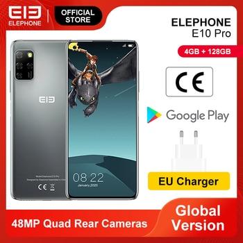 Перейти на Алиэкспресс и купить Предпродажа мобильных телефонов E10 Pro, 4 Гб 128 ГБ, 48 МП, четыре задние камеры, Восьмиядерный экран 6,55 дюйма, 4000 мАч, Android 10,0, смартфон NFC