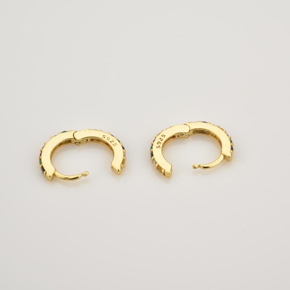 ANDYWEN 925 argent Sterling clair petit 7mm Huggies femmes mode luxe cristal cerceaux Piercing bijoux 2