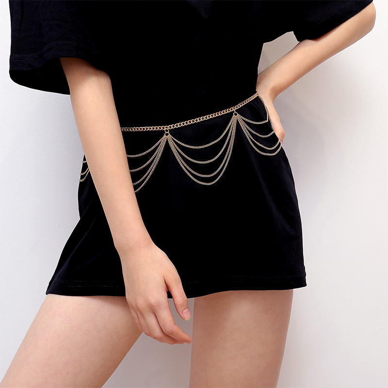 H657b674ae8c34498a0dfa2c520d869a3X - BLA Luxury Women Chain Belts Waistbands All-match Waist Gold Silver Multilayer Long Tassel Chain Belts For Party Jewelry Dress 3
