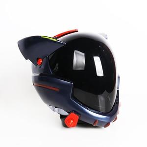 Image 4 - ¡En Stock! Casco acrílico EVA para Cosplay, casco Ayanami Rei Mari Makinami, máscara ilustre