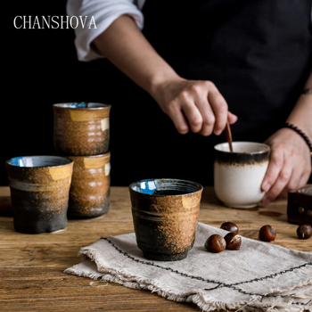 CHANSHOVA  Capacity 150/200ml Traditional Chinese Retro Style Handpainted Ceramic Teacup China Porcelain  Coffee Cup H060